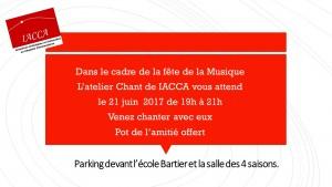 Fête de la Musique le 21 juin2017 Parking